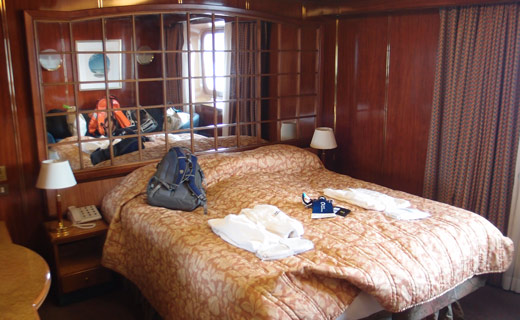 Jess and Kobus' suite onboard.