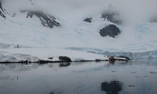 Our campground in Antarctica.