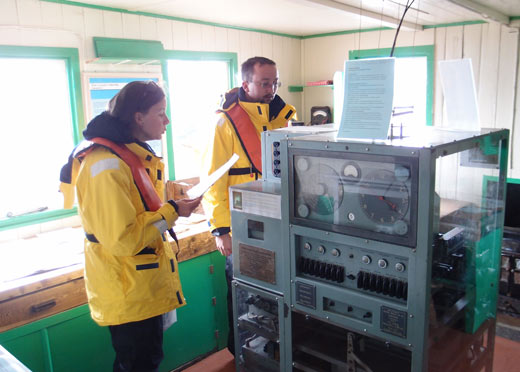 A scientific gizmo at Port Lockroy.