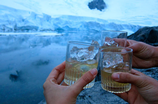12 year old scotch and 12,000 year old ice.