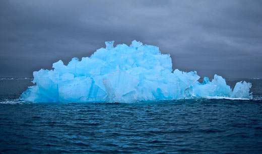 A very blue iceberg.