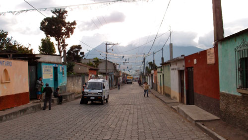 The main street of Ciudad Vieja.