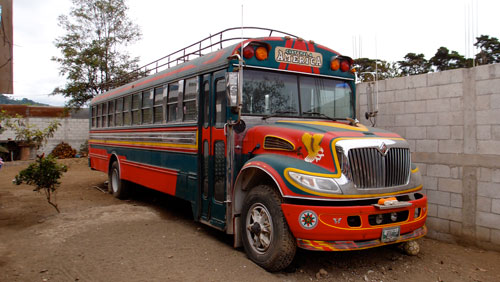The chicken bus that was donated to GV.