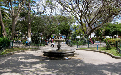 The central park in Antigua.