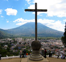 A view of Antigua from the hill of the cross.