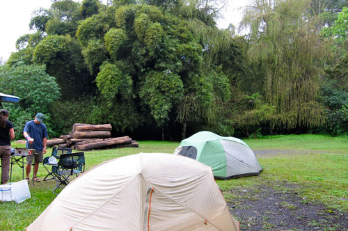 Our campsite at Coban.