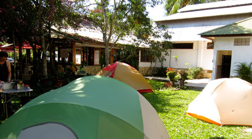 Our campsite at the Jaguar Inn in Tikal.