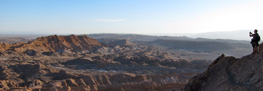 The Valley of the Moon in San Pedro de Atacama.