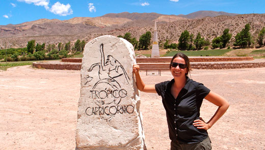 Crossing the Tropic of Capricorn.
