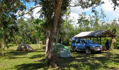 Another shot of our campsite near the Belize Zoo.