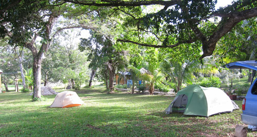 Our campsite at Mayan Wells.