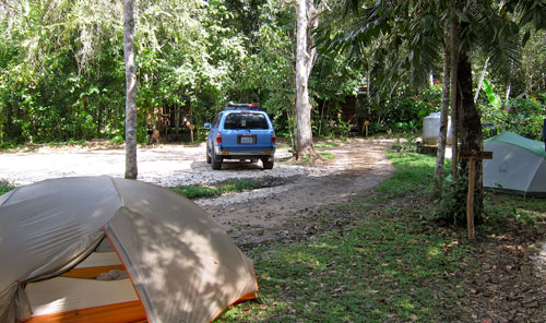 Our campground near San Ignacio in the town of San Jose Succotz.