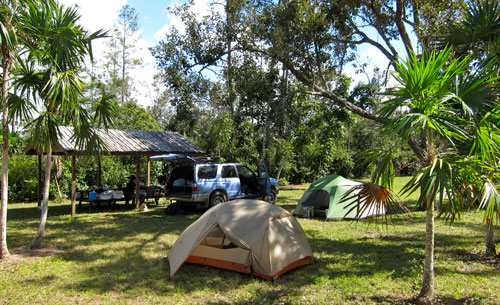 Our campground near the Belize Zoo.
