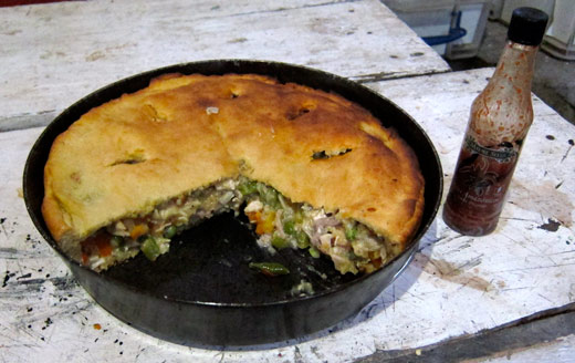 Chicken pot pie from the woodfire oven.