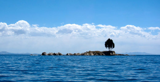 Heading out on Lake Titicaca.
