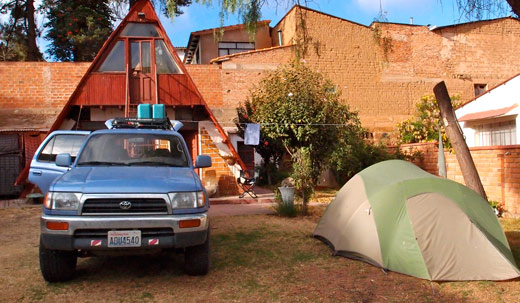 Our campsite in Sucre.