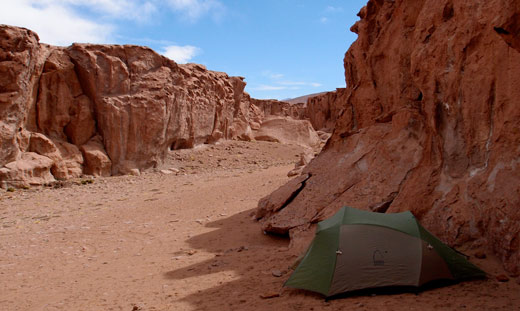 Our campsite in the canyon.