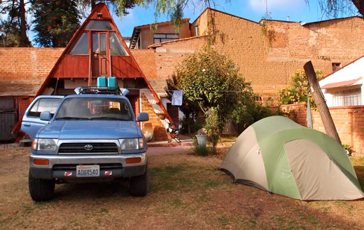 Our campground in Sucre.