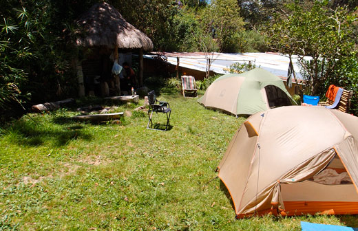 Our campground in Coroico at Sol y Luna.