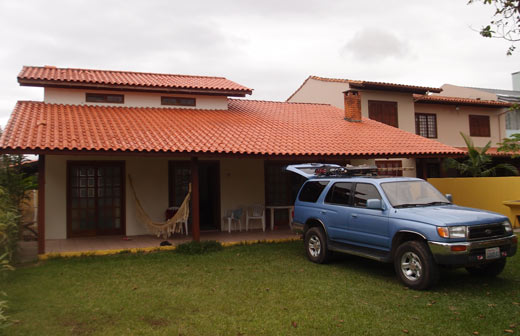 Our rental house on Florianopolis.
