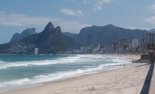 Ipanema beach in Rio.