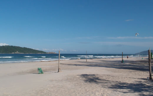 The beach near our house in Florianopolis.