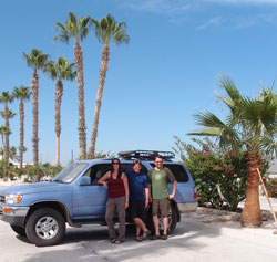 The three of us outside our resort in Cabo.