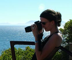 Taking photos in cape town