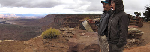 A panoramic view of the Canyonlands.