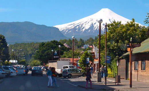 The volcano that stands above the town of Pucon.