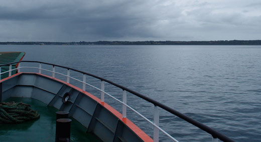 First sight of the Chiloe island.
