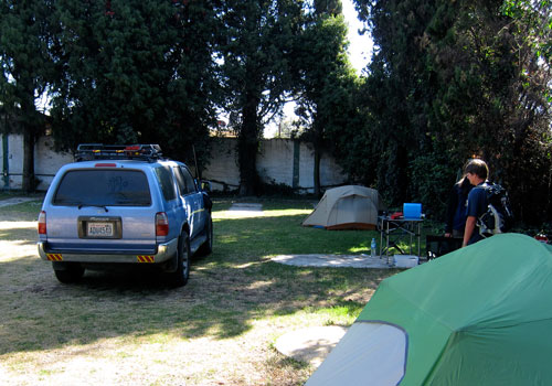 Our campsite in Cholula.