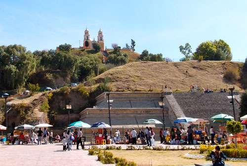Pyramid in Cholula.