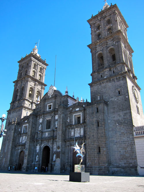 The cathedral in Puebla.