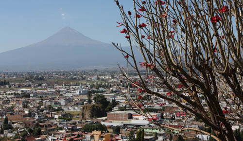 The volcano overlooking Cholula.
