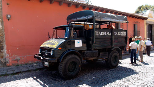 Our transportation to and from the coffee plantation.