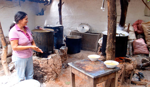 The soup kitchen in Barichara.