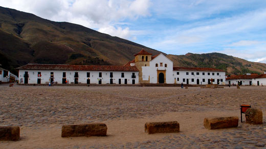 The main square in Villa de Leyva.