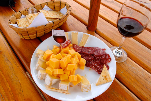 Our lunch of salami and cheese.
