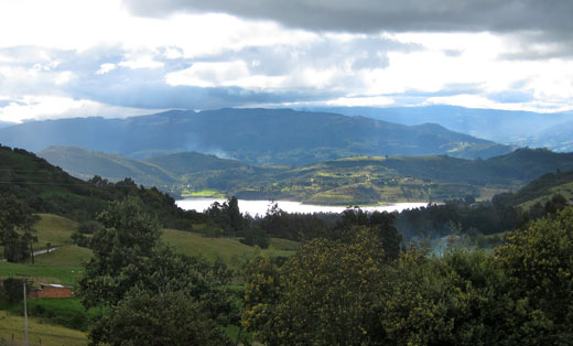 The lake near Guatavita.