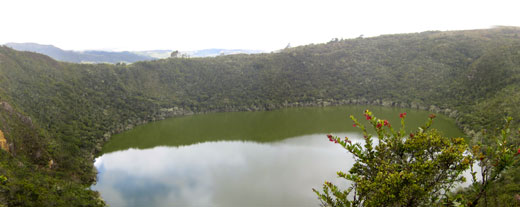 A panorama of the Sacred Lake.
