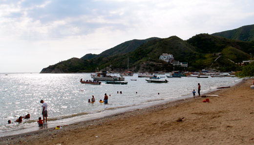 The beach in Taganga.