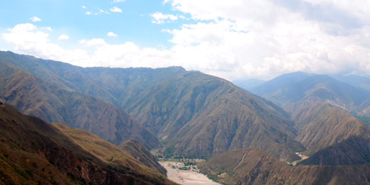 A panorama of a canyon we passed south of Bucaramanga.