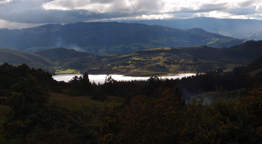 A view of the valley just up the road from our campsite in Guatavita.
