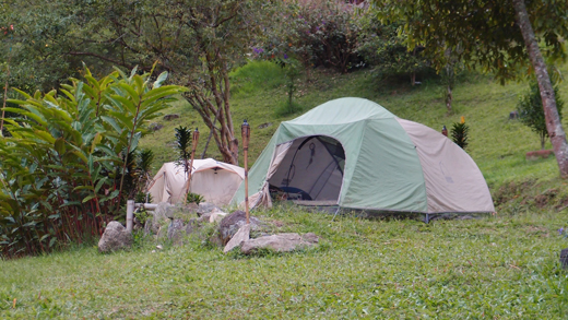 Our campsite in Pance.