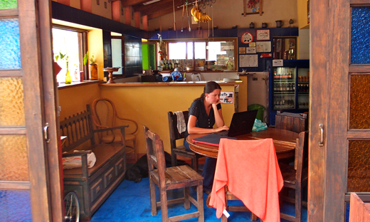The kitchen and dining room at La Serrana.
