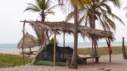 Our campsite in Tayrona National Park.