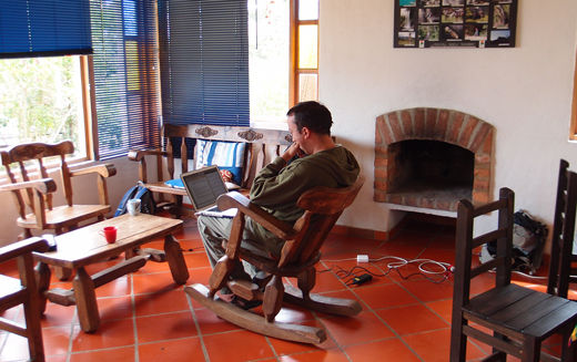 The indoor common area at Villa de Leyva.