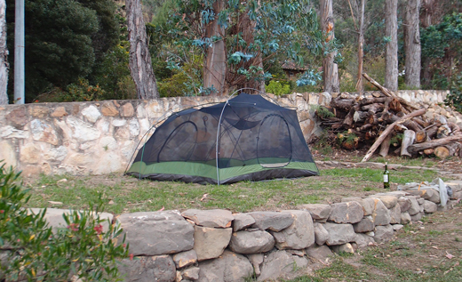 Our campground at Villa de Leyva.