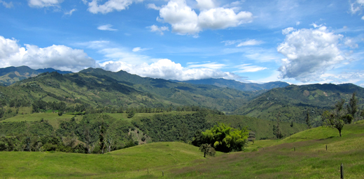 A view of the countryside from La Serrana.